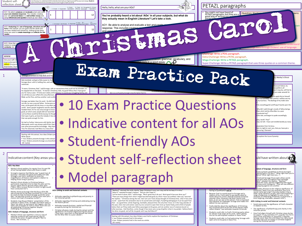 A Christmas Carol Exam Practice Questions