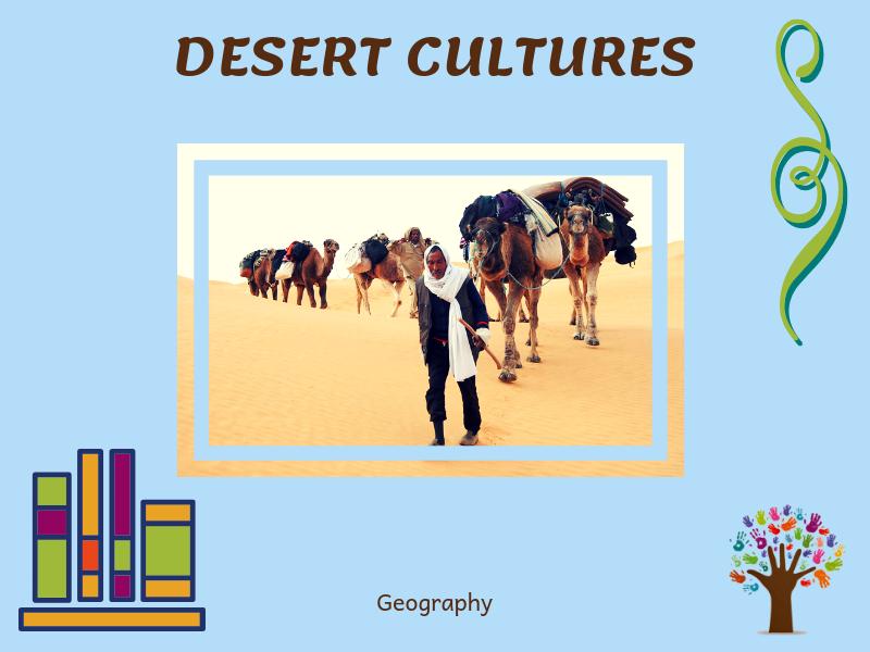 Desert Cultures - Montessori Classified Cards