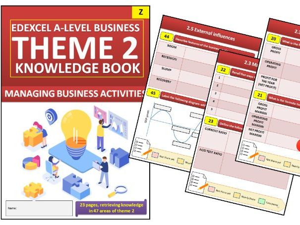 Edexcel A Level Business Theme 2 Interactive Knowledge Book