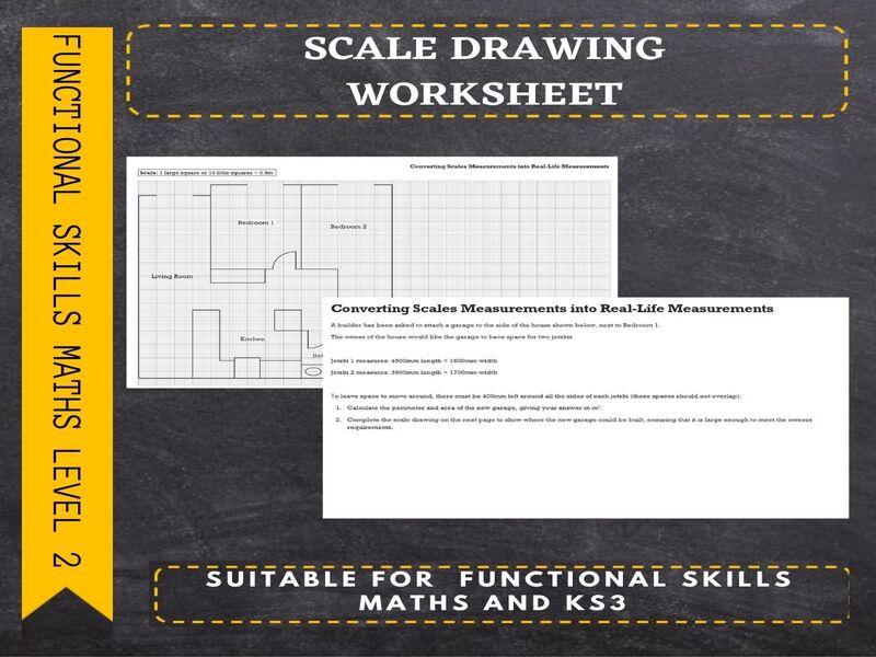 Functional Skills Maths-Scale Drawing Worksheet