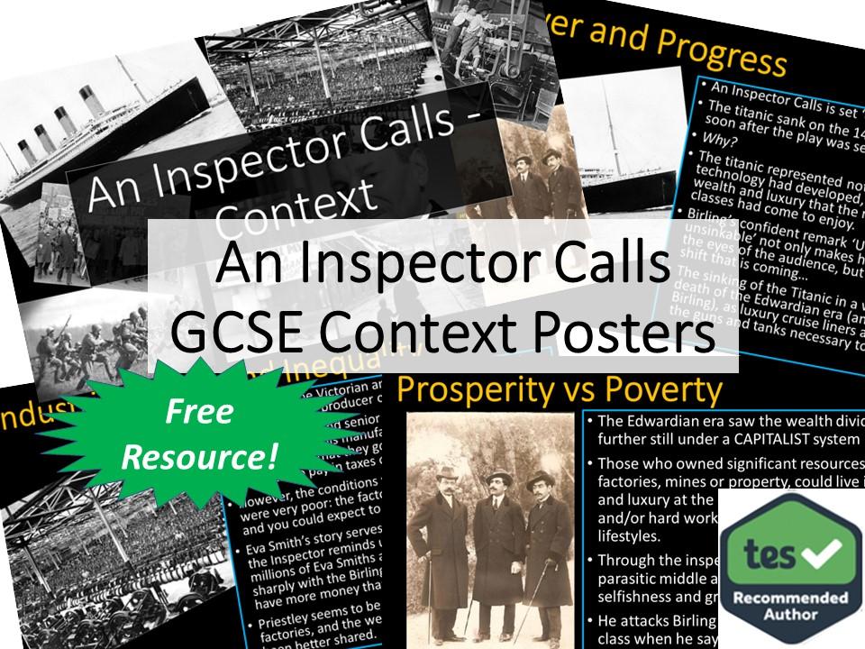 An Inspector Calls GCSE Context Posters