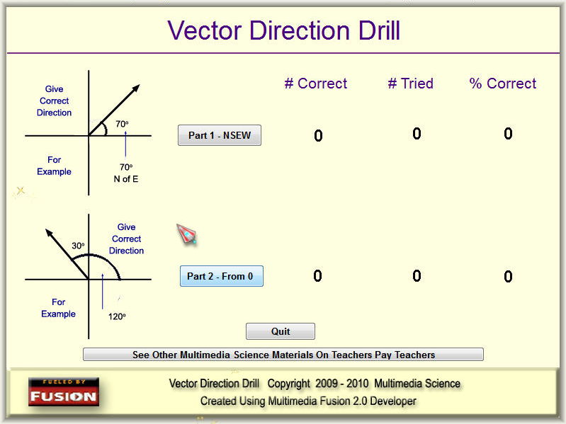 Physics - Measuring Vectors Handouts & Software