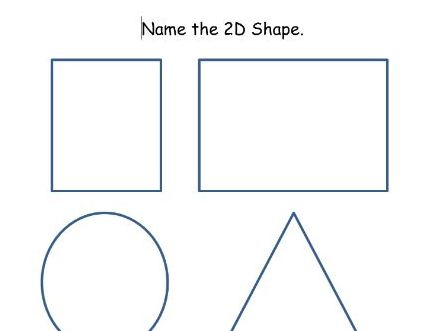 Name and Compare 2D Shapes