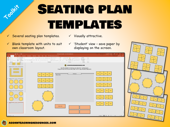 Seating plan templates