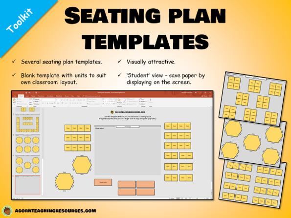 Seating plan templates