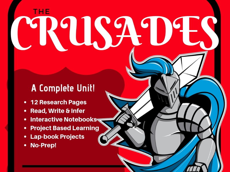 The Crusades Lapbook and Interactive Notebook
