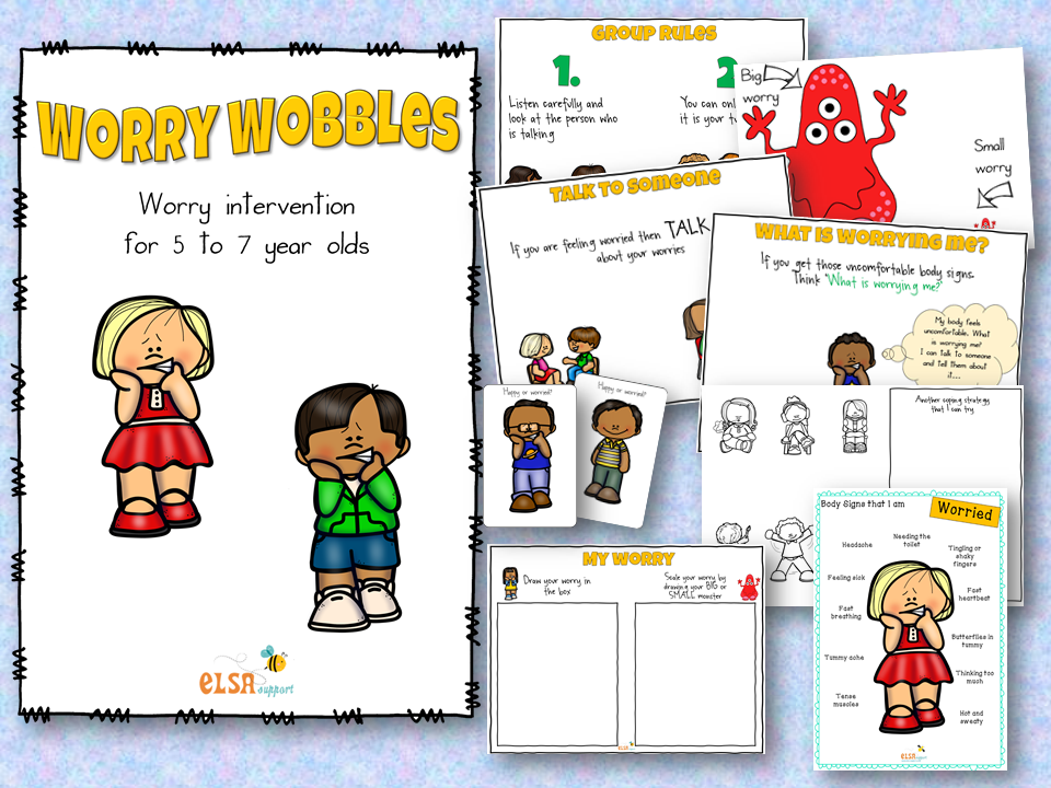 Worry Wobbles KS1 Anxiety intervention