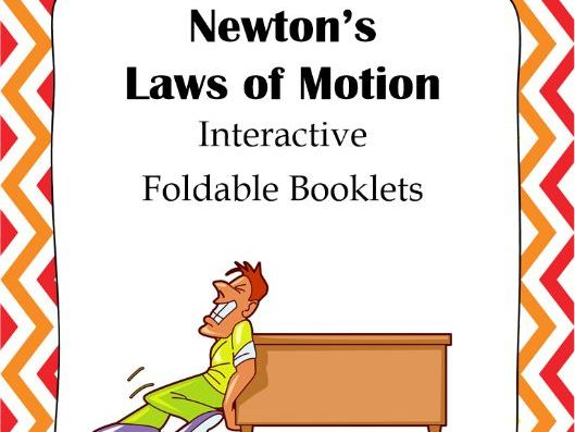 Newton's Laws of Motion Interactive Foldable Booklets