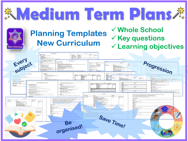 Medium Term Plan Templates