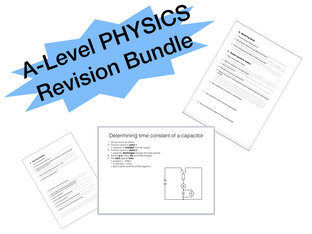 A-Level PHYSICS Revision Bundle