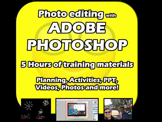 Adobe Photoshop Training - 5 hours of fun, practical, editable, activities!