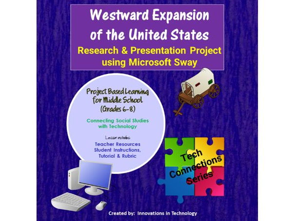 Westward Expansion of the United States - Research & Presentation Project  in Microsoft Sway