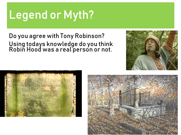 Robin Hood - Legend or Myth Lesson 1