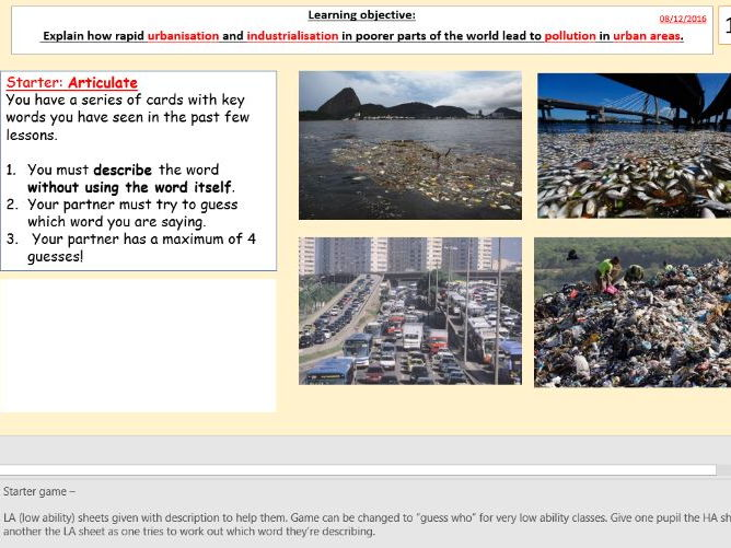 L6/9 Environmental challenges Rio de Janeiro (Urban World) [AQA GCSE Geography new spec]