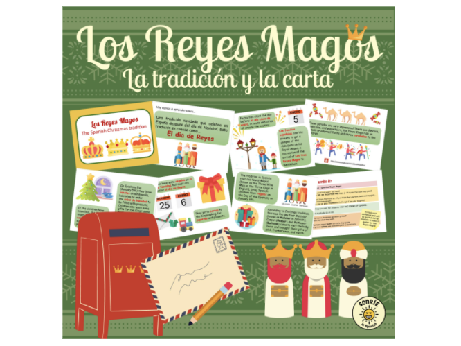 Los Reyes Magos - La historia y carta- The Three Wise Men- the story and writing a letter