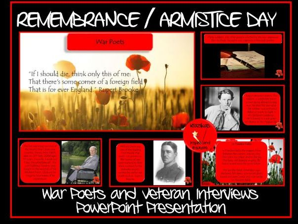 Remembrance Day - War Poets and Veterans