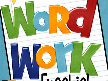 Freebie Word Work Activities