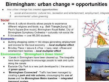 AQA Birmingham urban change