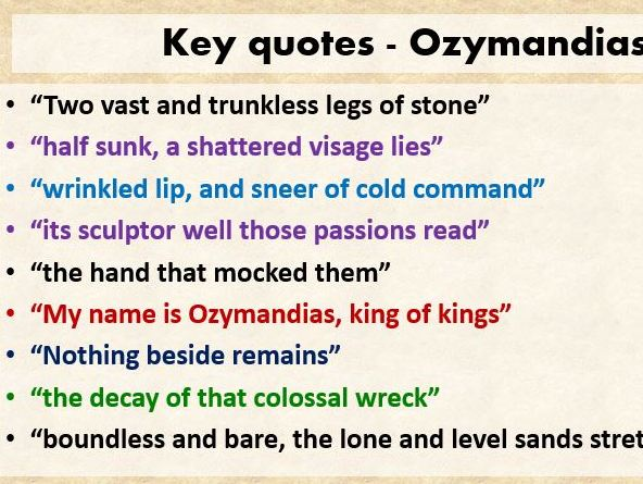 Key quotes AQA CONFLICT POETRY - Revision