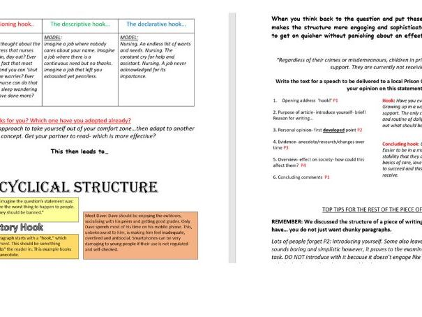 AQA Language: Transaction Writing Revision Booklet