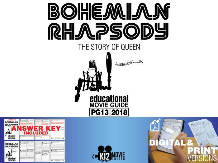 Bohemian Rhapsody Movie Guide | Questions | Worksheet (PG13 - 2018)