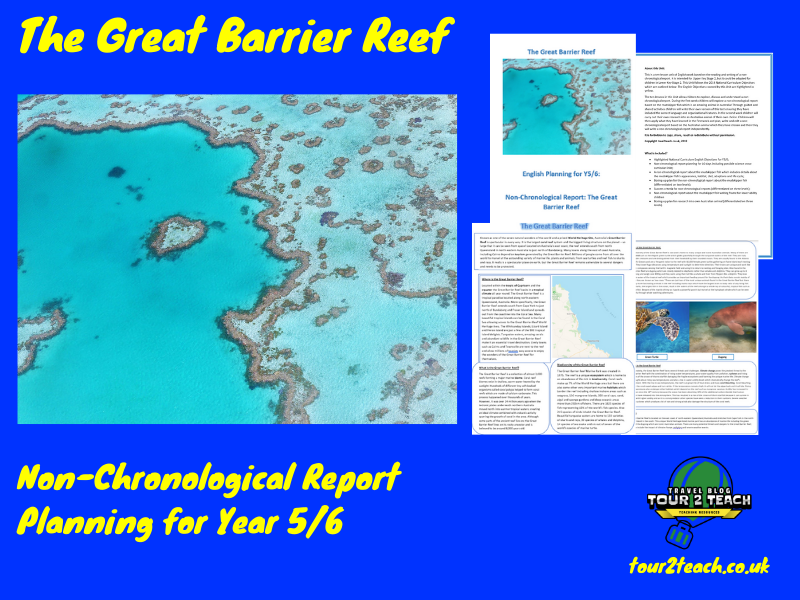 Great Barrier Reef:  Non-Chronological Report Planning for Year 5/6