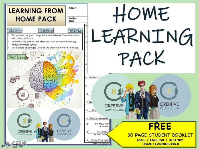 Home Learning Pack - Covid-19 Coronavirus Planning