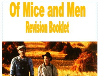 Of Mice and Men Work Booklet
