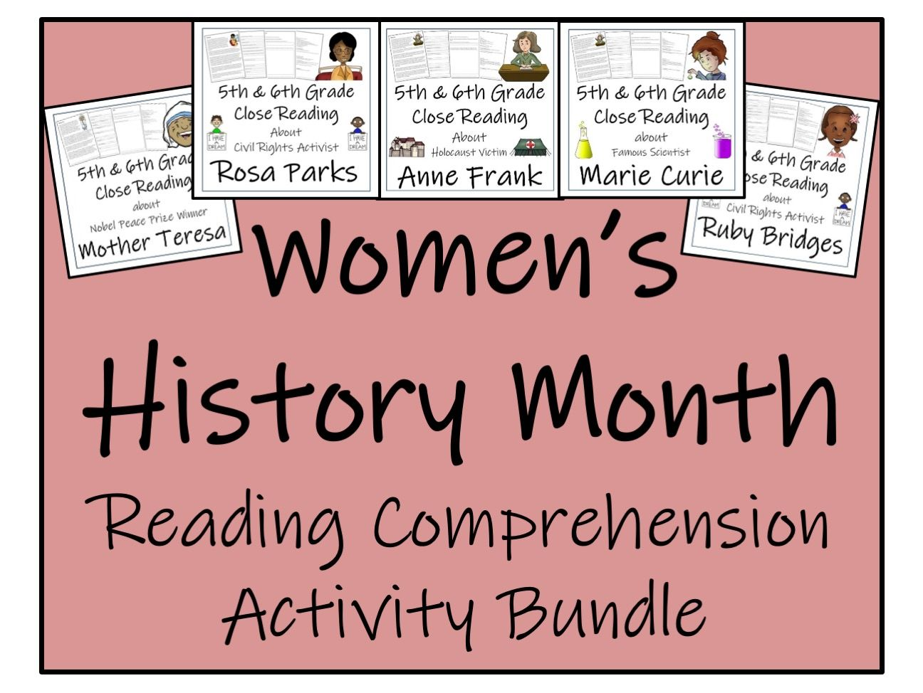 UKS2 Literacy - Women's History Month Reading Comprehension Activity Bundle