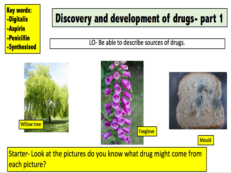 Discovery and development of drugs part 1