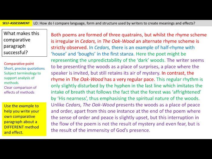 Unseen Poetry - Lesson 5 (Comparison)