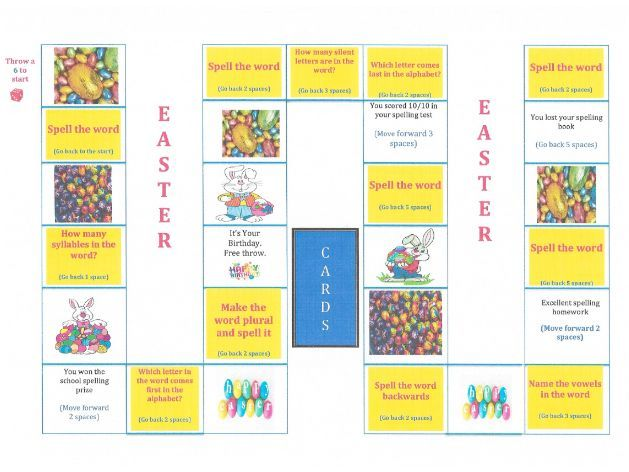 EASTER SPELLING BOARD GAME