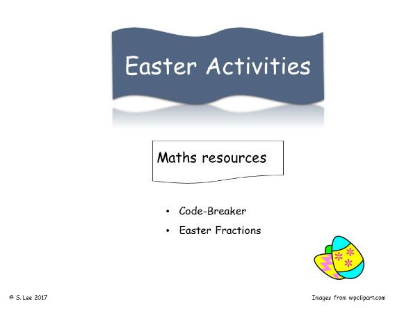 Easter  Numeracy Activities
