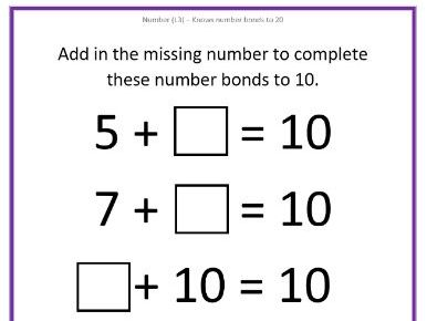 Number Bonds to 10 & 20