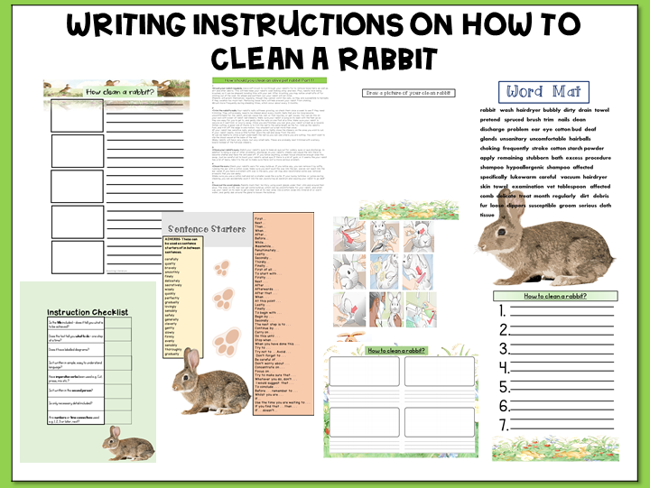 Writing Instructions on How to Clean a Rabbit