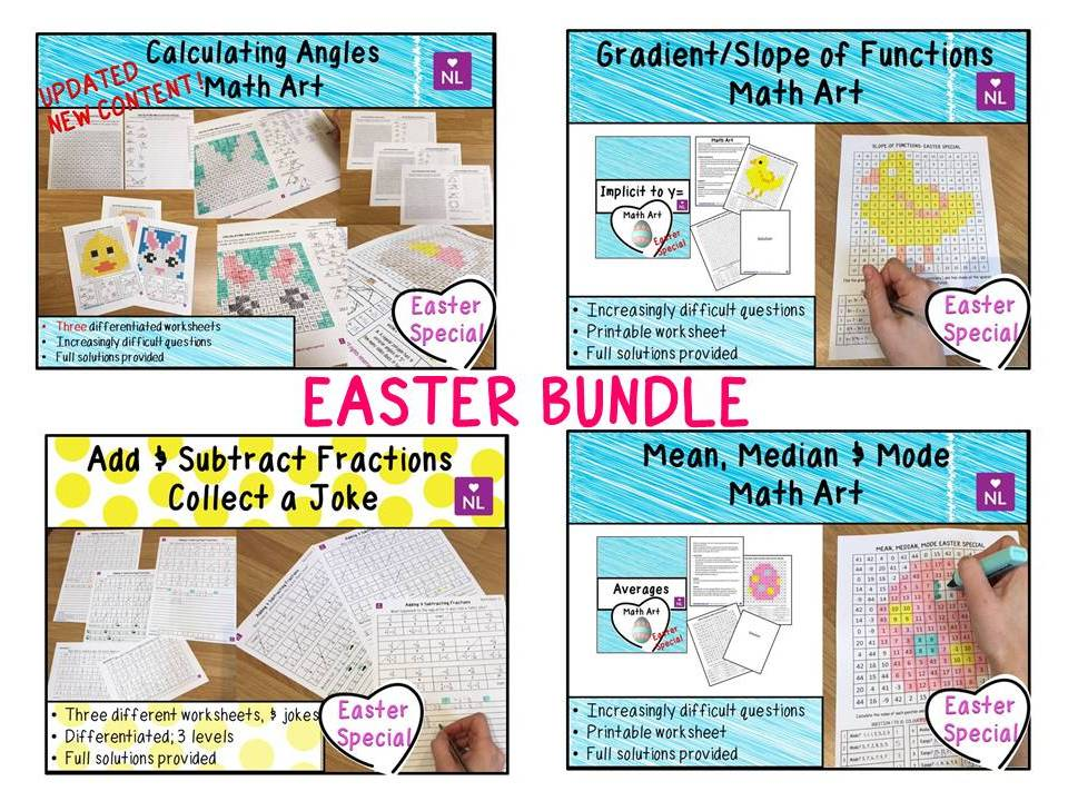 BUNDLE Easter Math Activities