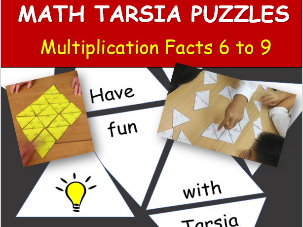 Math Tarsia Puzzle: MULTIPLICATION FACTS 6 to 9