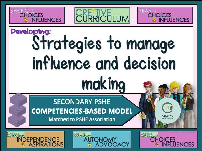 Managing Influence decision making - PSHE Builder