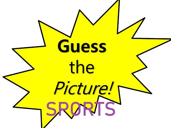 Sports and Activities Hidden Pictures Game - Grade K-1 - PowerPoint Fun