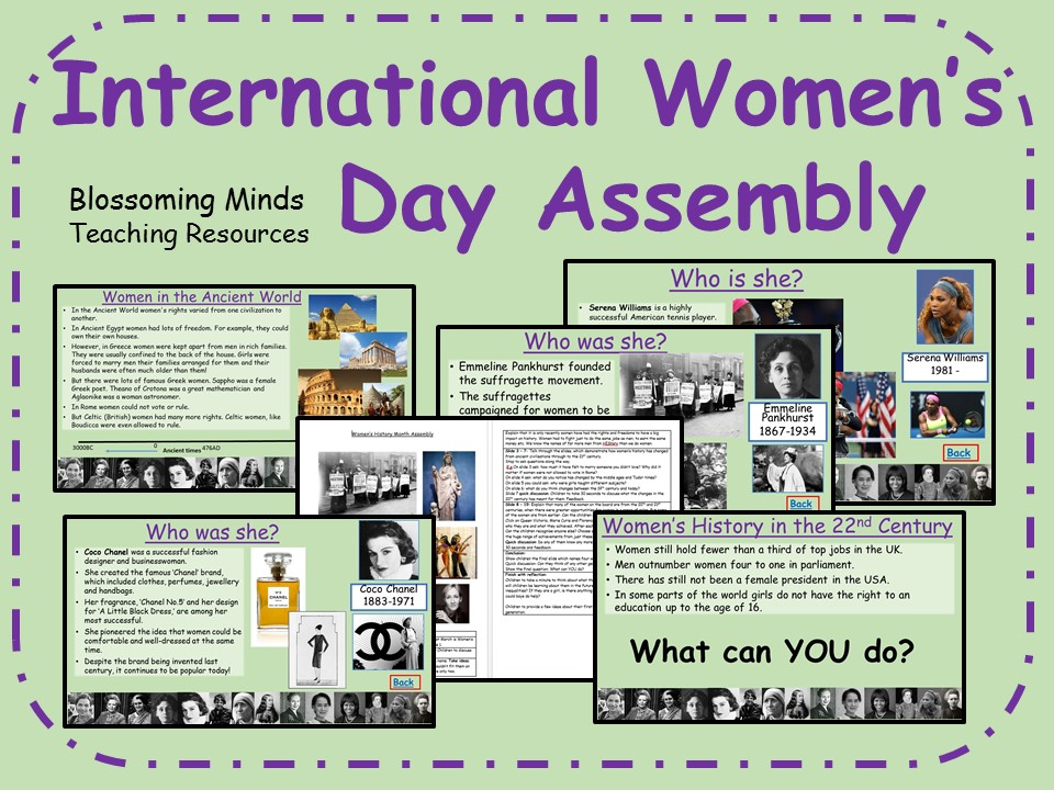 International Women's Day Assembly - 8 March