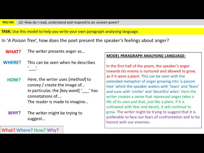 Unseen Poetry - Lesson 2 (Understand and respond)
