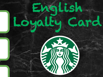English Loyalty Cards