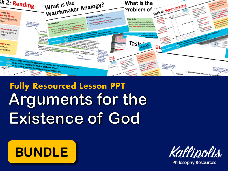 Unit of Work Lessons: Arguments for the Existence of God