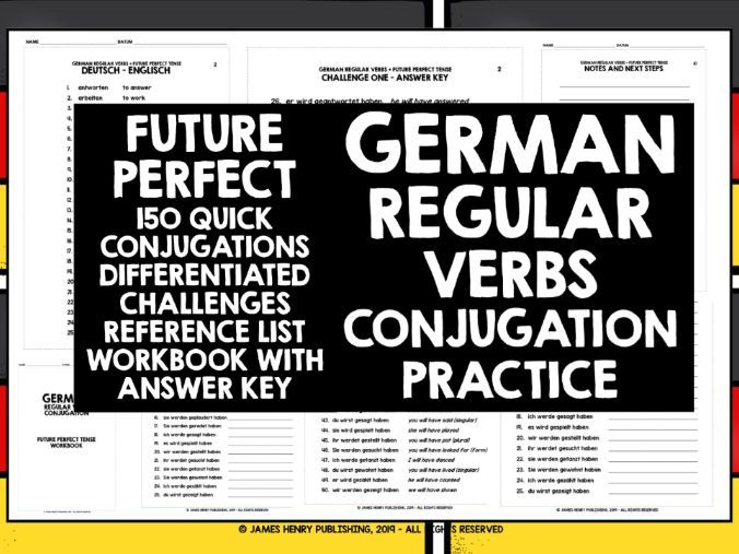 GERMAN REGULAR VERBS CONJUGATION PRACTICE #7