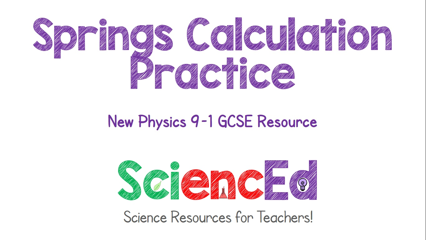 Springs Calculation Practice  by SciencEd