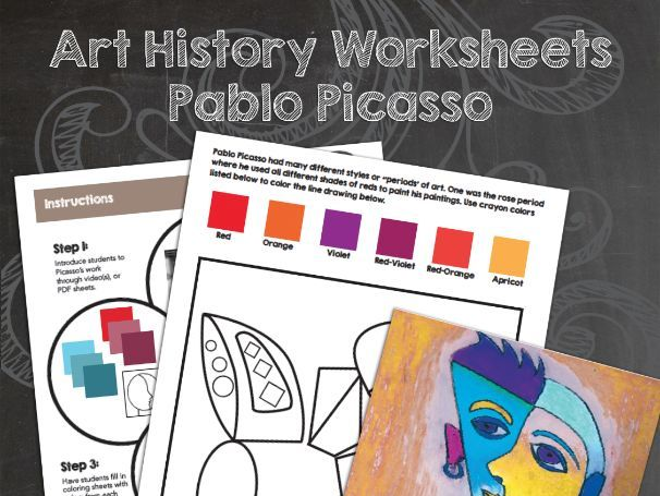 Pablo Picasso Art History Worksheets