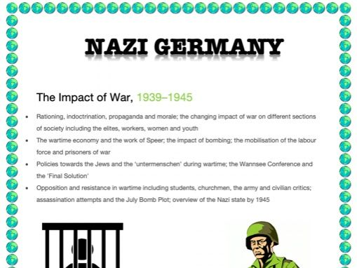 AN EASY GUIDE TO AN A*: A-LEVEL: THE IMPACT OF WAR 1939-45