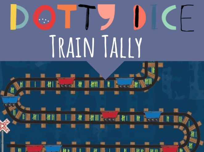 Train Tally - Use tally marks to collect and count items - Board Game