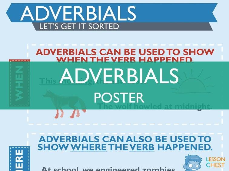 Adverbials Poster