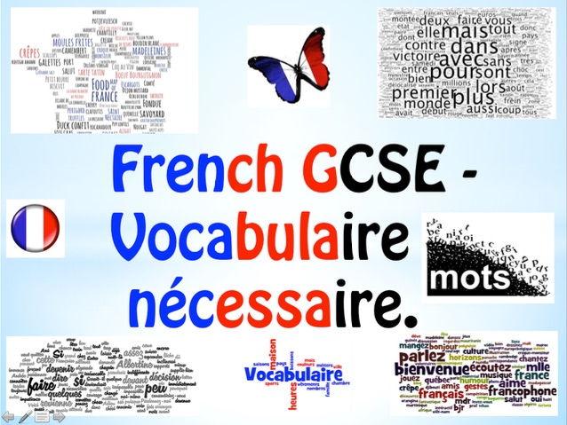 French GCSE Essential Revision Vocabulary